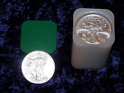 2002 American Eagle 1oz Silver Bullion coins - Roll of 20 UNC