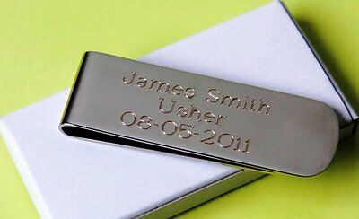3 personalized money clips best man gift groomsman gift free custom engraving