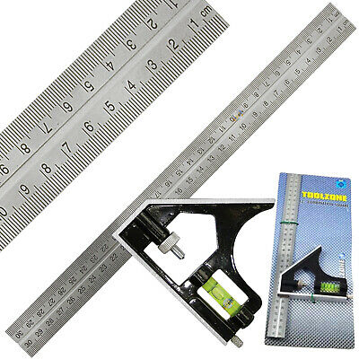 "Combination Square / Adjustable Set Squares Measures 12"" 300mm Long"