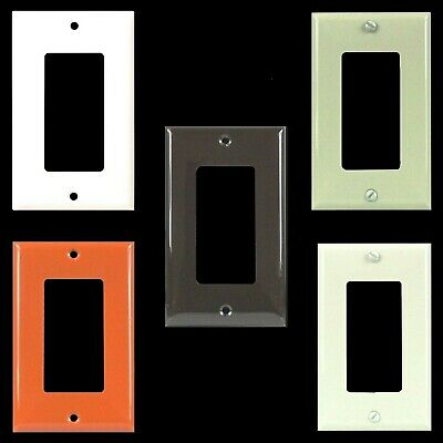 10 Pack 1 Gang Unbreakable Decorator Outlet Wall Plate Rocker Switch GFI Covers