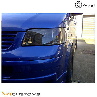 Volkswagen T4 T5 Gunsmoke Headlight Tint Vinyl Wrap With Free Instructions