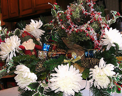 Santa Merry Christmas Tree Child Holiday Baby Cemetery Grave Sympathy Flowers