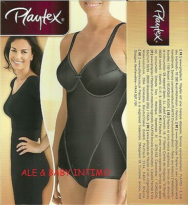 Body Modellatore Playtex Criss Cross Art. 5830 Coppe B C D Nero Beige ( Sahara )