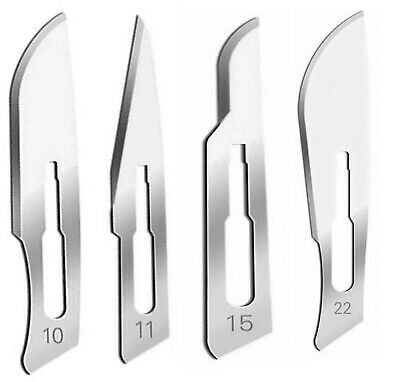 60 Sterile Surgical Scalpel Handle Blades #10 #11 #15 #22