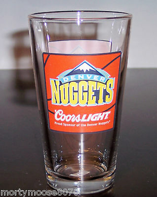 DENVER NUGGETS COORS LIGHT PINT BEER GLASS BRAND NEW  COLORADO