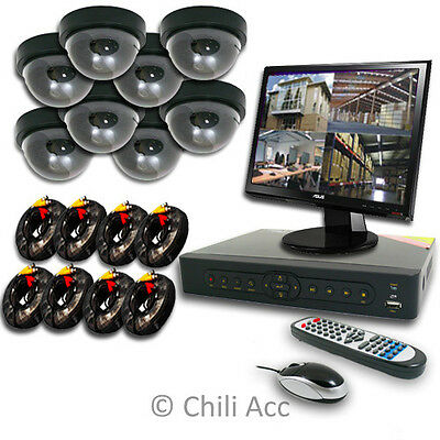 8CH 8 CHANNELS Home Video Surveillance CCTV DVR Security System 8 Indoor Camera
