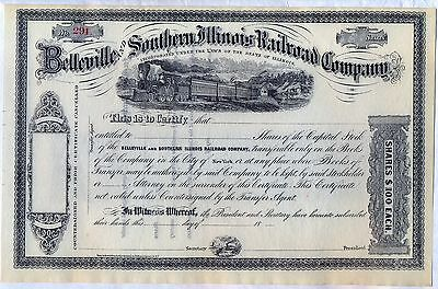 Belleville and Southern Illinois Railroad Company Stock Certificate