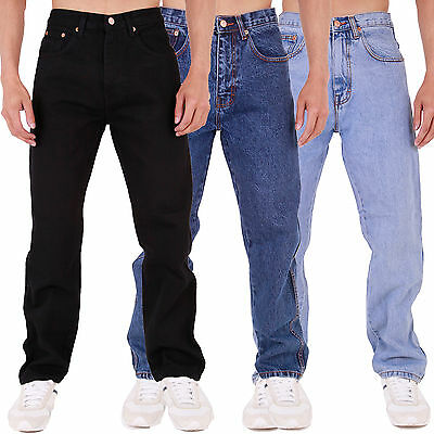 MENS AZTEC JEANS HEAVY DUTY WORKWEAR BASIC STRAIGHT REGULAR FIT 28-60 in 6 Legs