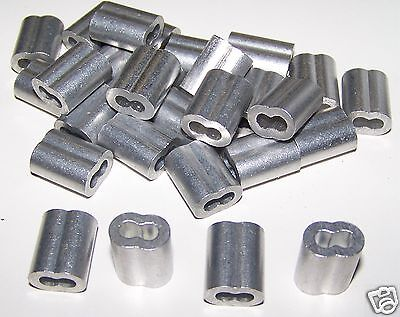 "1/8"" Aluminum Cable Crimps/Sleeves (LOT OF 100) NEW"