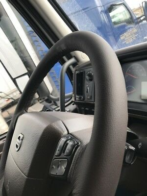 Fits Toyota Land Cruiser Hdj 80 Brown Italian Leather Steering Wheel Cover New