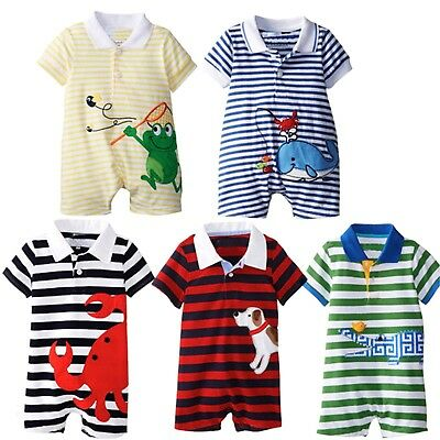 Baby Girls/Boys BabyGrow Romper 100% Cotton Playsuit Outfit Set,6,12,18,24month