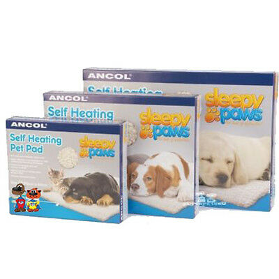 Ancol Self Heating Pet Pad Bed Dog Cat Faux Sheepskin 3 Sizes S M L