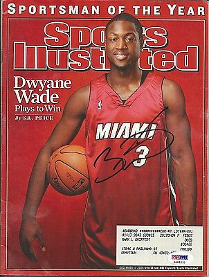 Dwyane Wade Psa/dna Signed Sports Illustrated Si Certified Authentic Autograph