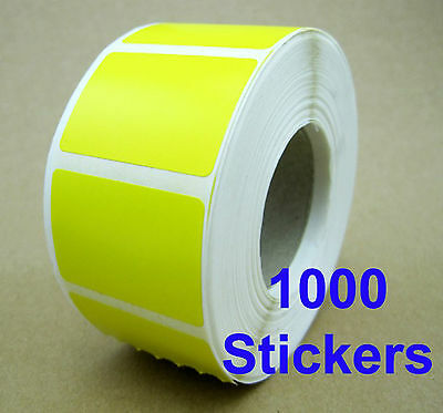 - New - 1000 x Retailer YELLOW Stickers Price Labels - Self Adhensive