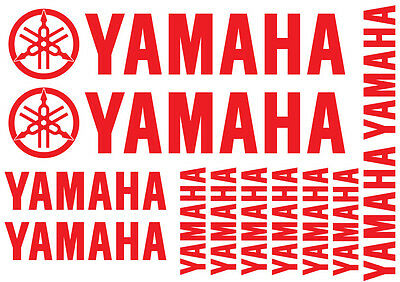 SET of 14 YAMAHA Stickers for Bike, Quad, Outboard. 18 Colours, Best Vinyl Used