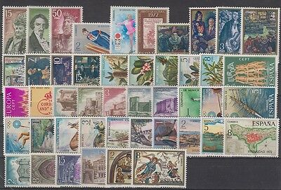 Spain - España - Year 1972 Complete With All The Stamps Mnh