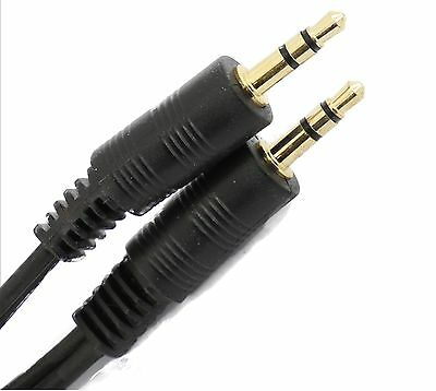 10m 3.5mm Jack to Jack Cable STEREO Audio AUX Auxiliary Lead PC Car GOLD