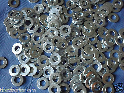4mm Washers Zinc Plated to Suit M4 Bolts & Screws New Pack x 50 Free UK Postage