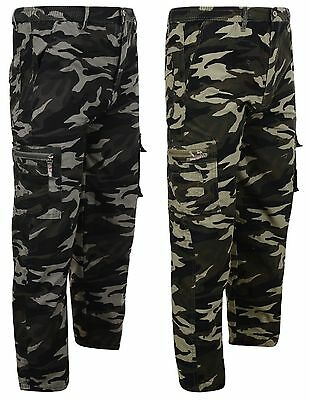 Boys Army Camouflage Combat Trousers 2-12 Years Bnwt