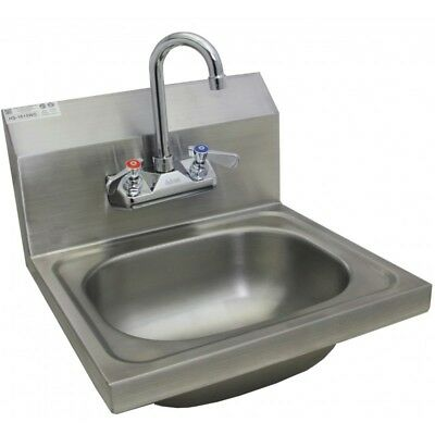 "Wall Mount Hand Sink Stainless Steel 20""x17"" w/ *No Lead Faucet*"