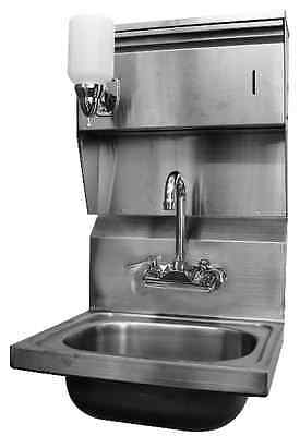 "Wall Mount Hand Sink w/ Towel, Soap Dispenser 16""x15"" *No Lead Faucet*"