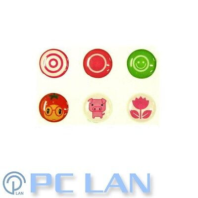 6 PCS Cute Tomato Girl Pig Flower Home Button Sticker for iPad1/2/3/4 +Bonus Set