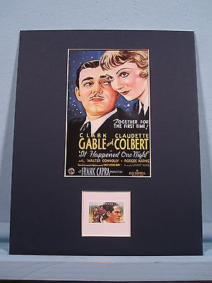 Clark Gable - It Happened One Night directed by Frank Capra & his own stamp