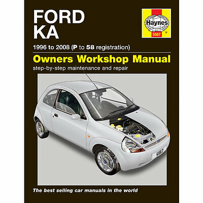Ford Ka 1.3 Petrol 1996-2008 (P To 58 Reg) Haynes Workshop Manual