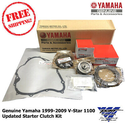 Oem 1999-2009 Yamaha V Star 1100 Updated Starter Clutch Kit Vstar Xvs1100