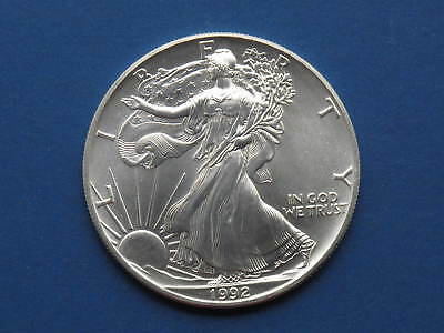 1992 American Silver Eagle  Walking Liberty Coin 1oz .999