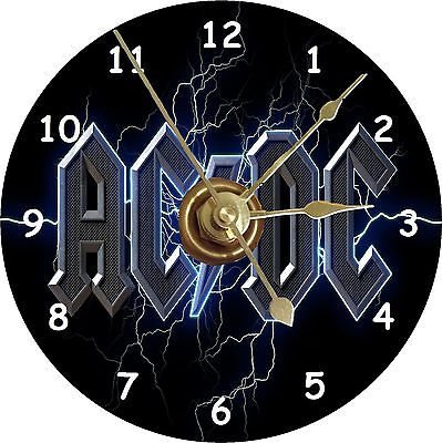 BRAND NEW AC/DC Rock Band CD Clock