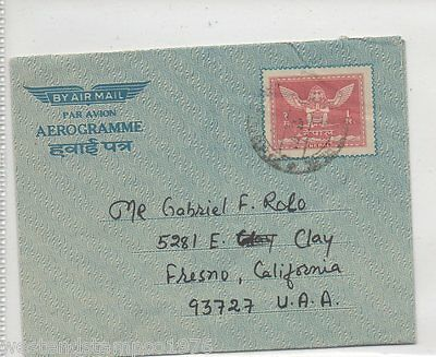 Nepal Prestamped Airmail Letter To Usa. Cancelled 1971.
