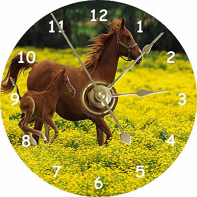 BRAND NEW Horse With Colt CD Clock