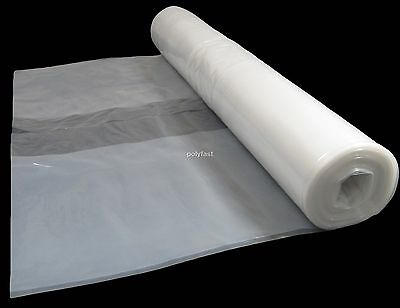 4 Metre Wide Clear Polythene Plastic Sheeting 125 Micron / 500 Gauge