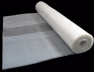 Clear Polythene Plastic Sheeting 4m Wide Various Lengths, 125 Micron / 500 Gauge