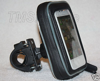 Rail Bike Motorcycle Handlebar Mount with Water Resistant Case for i-Phone 4s 3g