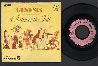 "7"" Genesis A Trick Of The Tail / Carpet Crawl Original Germany 1976 Charisma"