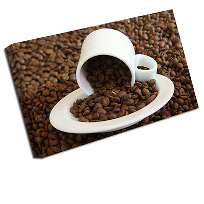 Kitchen Canvas Picture Coffee Bean Cup Art Print