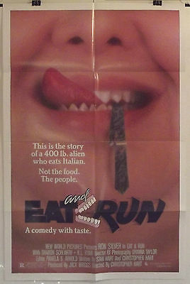 Eat And Run - Ron Silver / Sharon Sharth - Original American 1Sht Movie Poster