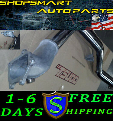 Tsudo Wrx/sti 08 09 10 11 Cat-Less Bellmouth 76Mm Iron Flange Racing Downpipe