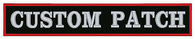 """Custom Embroidered Name 15"""" Patch  Motorcycle Biker Tag"""