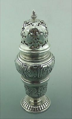 Antique Silver Sugar Spice Caster Possibly  French Or Hanau London Import Marks