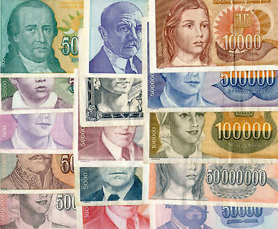 40 Different YUGOSLAVIA Banknotes Select collection