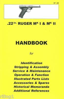 Ruger MKI & MKII .22 caliber Assembly, Disassembly Manual No. 30