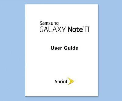 Samsung Galaxy Note II (Note 2) Smartphone User Guide (Sprint model SPH-L900)