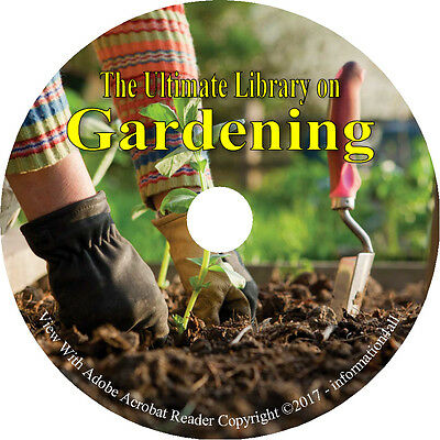 144 Books on DVD, Ultimate Library on Gardening, Garden Plant Landscape
