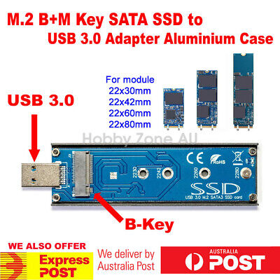 M.2(NGFF) SATA KEY B+M 2242 SSD to USB 3.0 Converter Adapter External Driver