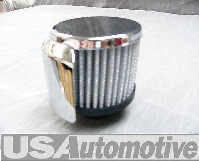 """Chevy Chrome  """"Push-In"""" 3"""" Filter Breather Cap  Wa9516"""