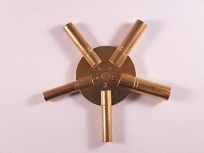 Brass Spider Clock Winding Key Odd Sizes 3, 5, 7, 9, 11, UK Seller UK Stock