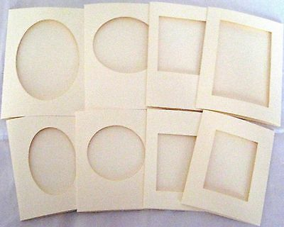 8 Aperture Cards 3 Fold With Envelopes Mixed Pack